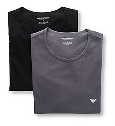 Emporio Armani Pure Cotton Crew Neck T-Shirts - 2 Pack 2670P722