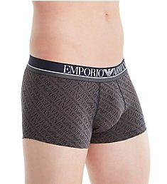 Emporio Armani All Over Logo Cotton Stretch Trunk 2909A508