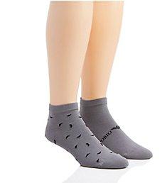 Emporio Armani Allover Eagle Low Cut Socks - 2 Pack 3020P292