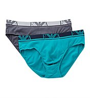 Emporio Armani Colored Basic Stretch Cotton Briefs - 2 Pack 3216A715