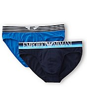 Emporio Armani Color Play Cotton Stretch Briefs - 2 Packs 3217P723