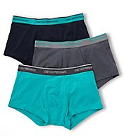 Emporio Armani Pop Color Stretch Cotton Trunks - 3 Pack 3577P717