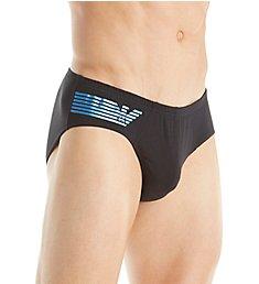 Emporio Armani Shiny Logo Cotton Stretch Bikini Brief 6186A512