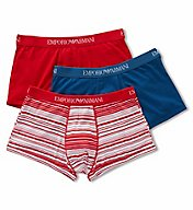 Emporio Armani Genuine Cotton 100% Cotton Trunks - 3 Pack 6257P722