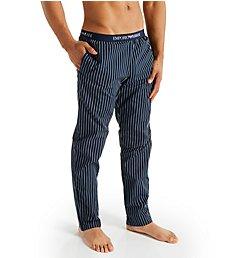 Emporio Armani Yarn Dyed Woven Pants 7800P576