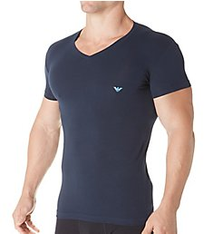 Emporio Armani Metallic Eagle V-Neck T-Shirt 8107A745