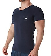 Emporio Armani Shiny Logo Band V Neck T-shirt 8107P512