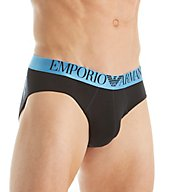Emporio Armani Shiny Logo Cotton Stretch Brief 8146A512