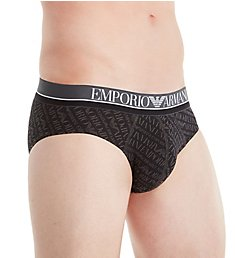Emporio Armani All Over Logo Cotton Stretch Low Rise Brief 8149A508