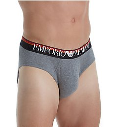 Emporio Armani Cotton Stretch Brief with Multi Color Waistband 8149A510