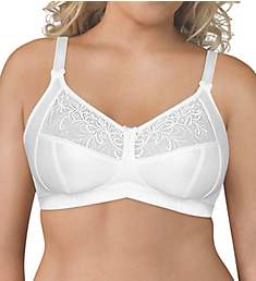 Exquisite Form Wirefree 4-Part Cup Bra with Embroidered Mesh 5100514