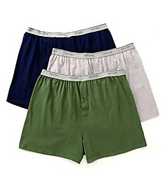 Fruit Of The Loom Extended Size Cotton Assort Knit Boxers - 3 Pack 3P722X