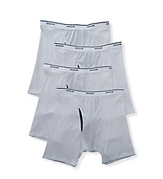 Fruit Of The Loom Coolzone Extended Size White Boxer Briefs - 4 Pack 4BL760X