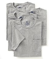 Fruit Of The Loom Men's Core Grey Pocket Tee - 4 Pack 4P30LA1