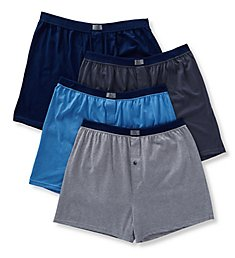 Fruit Of The Loom Extended Size Assorted Cotton Knit Boxers - 4 Pack 4P540X