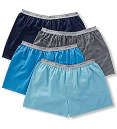 Fruit Of The Loom Extended Size Cotton Blend Woven Boxers - 4 Pack 4P550X