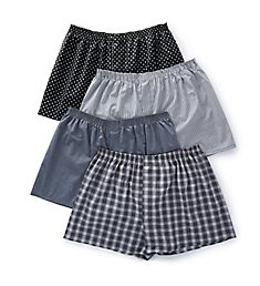 Fruit Of The Loom Extended Size Core Assorted Woven Boxers - 4 Pack 4P582X