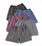 Fruit Of The Loom Big Man Assorted Woven Boxers - 5 Pack 5P582X