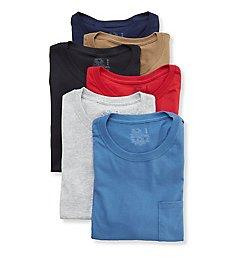 Fruit Of The Loom Men's Fashion Pocket T-Shirts - 6 Pack 6P30BG