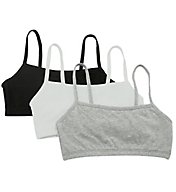 Fruit Of The Loom Spaghetti Strap Short Bra - 3 Pack 9036