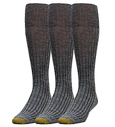 Gold Toe Windsor Wool Over The Calf Dress Socks - 3 Pack 1446H