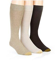 Gold Toe Flat Knit Crew Socks - 3 Pack 3180E