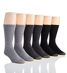Gold Toe Harrington Crew Sock - 6 Pack 3400S