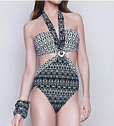Gottex African Rhythm Cut Out One Piece Swimsuit 15AR046