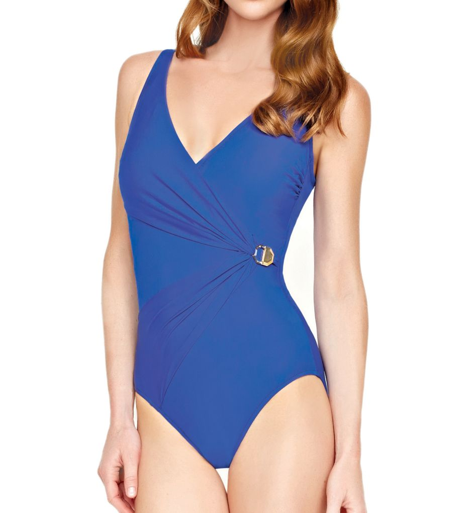Gottex Crystal Clear Surplice One-Piece Swimsuit 16CC178