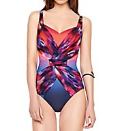 Gottex Contour Galaxy Sweetheart Neck One-Piece Swimsuit 16GA174