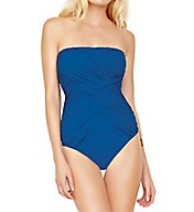 Gottex Lattice Bandeau One Piece Swimsuit 17LA070