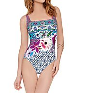 Gottex Le Jardin Tummy Control One Piece Swimsuit 17LJ172
