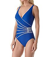 Gottex Surplice Tummy Control One Piece Swimsuit 17LL178