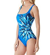 Gottex Lanai Square Neck Tummy Control One Piece Swimsuit 17LN173