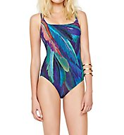 Gottex Macaw Square Neck One Piece Swimsuit 17MA173