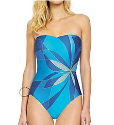 Gottex Kaleidoscope Bandeau One Piece Swimsuit 18KA072