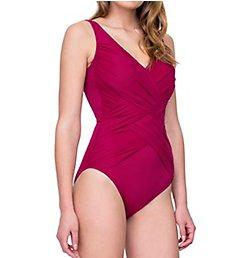 Gottex Lattice Surplice One Piece Swimsuit 19LA158