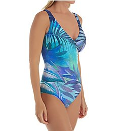Gottex Desert Sky Surplice One Piece Swimsuit 20DS158