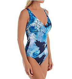 Gottex Midnight Floral Surplice One Piece Swimsuit 20MF178