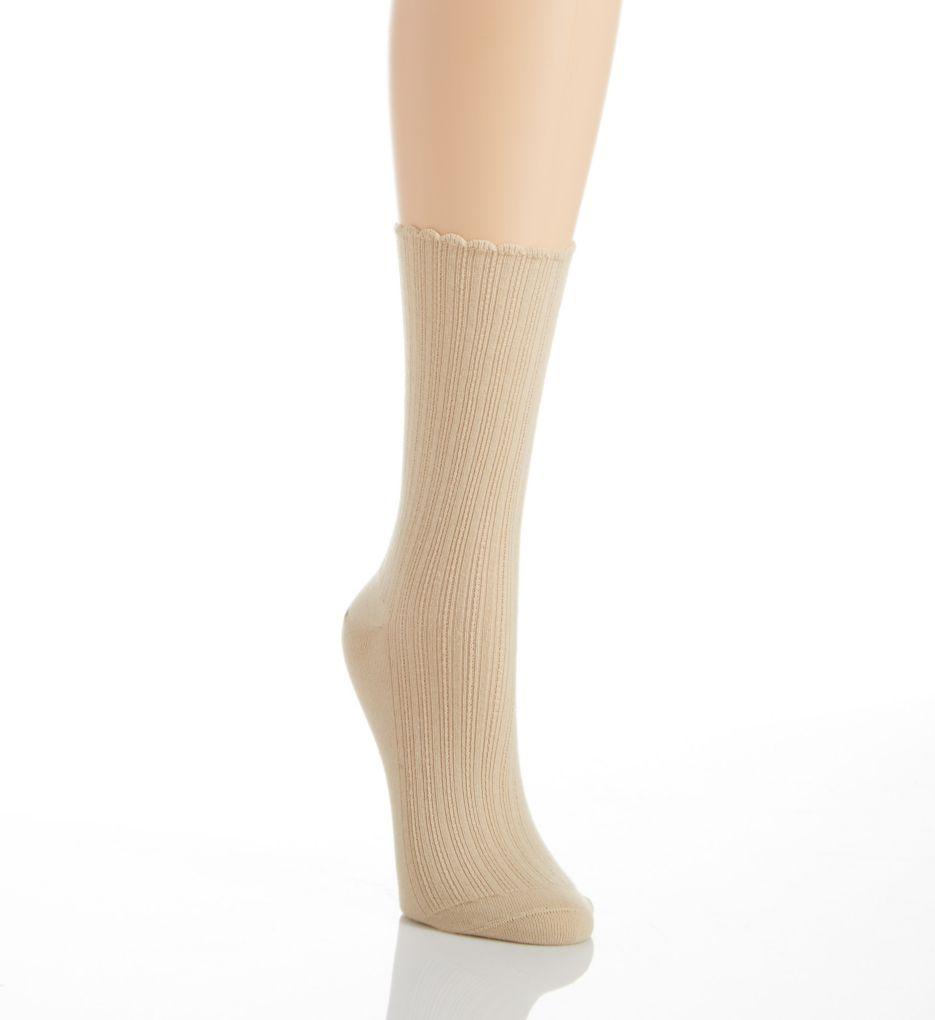 Hue Scalloped Pointelle Sock U2440