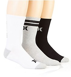 Hurley Half Terry Logo Crew Sock - 3 Pack H116179