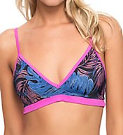 Hurley Sunset Palms Sports Bra Swim Top HU82226