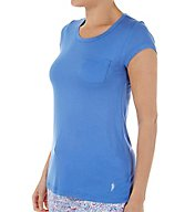 Jockey Poppy Waves Short Sleeve Pocket Top 3361089