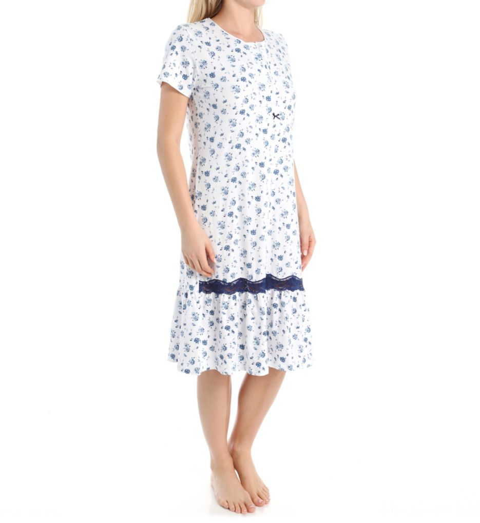 KayAnna Rosy Short Sleeve Nightgown H11396