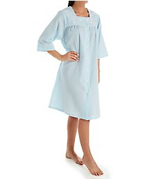 KayAnna Short Striped Seersucker Housecoat R04046