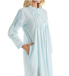 La Cera 100% Cotton Woven Long Sleeve Nightgown 1060G