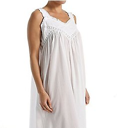 La Cera 100% Cotton Woven Embroidered Pinafore Gown 1205G