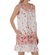La Cera Cotton Lawn Sleeveless Chemise With Pockets 1209C