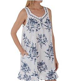 La Cera 100% Cotton Flouncy Short Dress 1211C