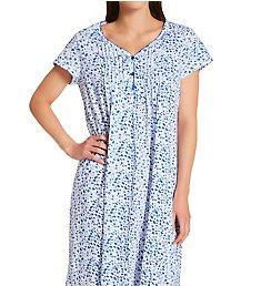 La Cera Cotton Knit Short Sleeve Sleepshirt 1555C